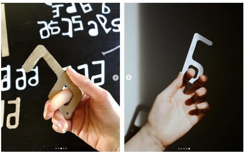 Хук от safer: первые прототипы были сделаны из обычного картона.