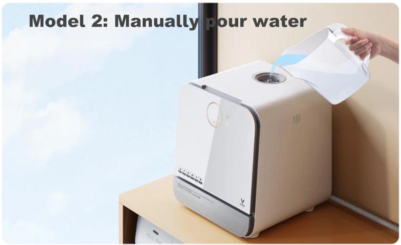 Компактная посудомойка ручной долив воды