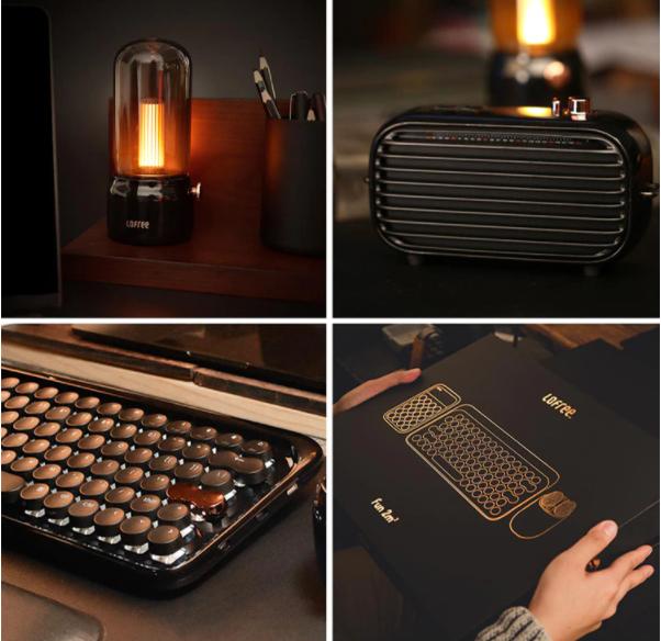 Красивый ламповый набор механическая клавиатура и мышь