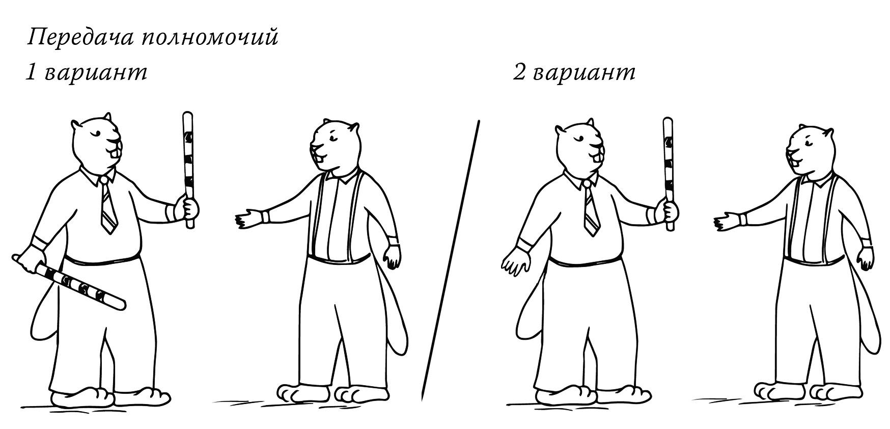 Передача полномочий в управлении.