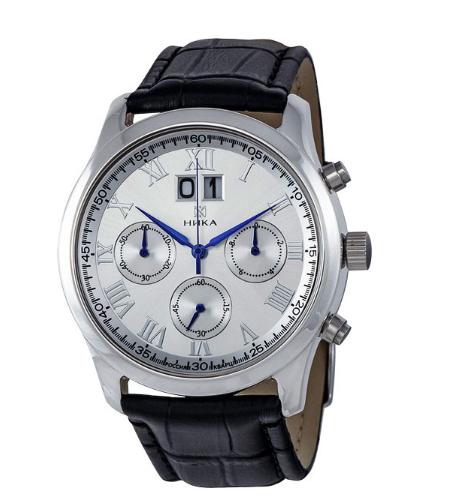 Российские серебряные наручные часы Ника 1898.0.9.11A с хронографом