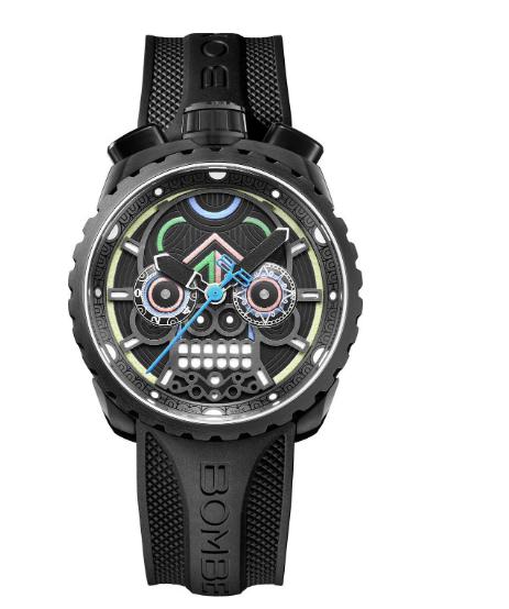 Швейцарские наручные часы Bomberg BS45CHPBA.MAYA-2.3 с хронографом