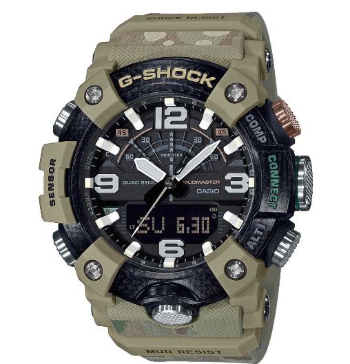 Японские умные наручные часы Casio G-SHOCK GG-B100BA-1AER с хронографом
